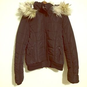 American Eagle Outfitters  Black Parka Winter coat